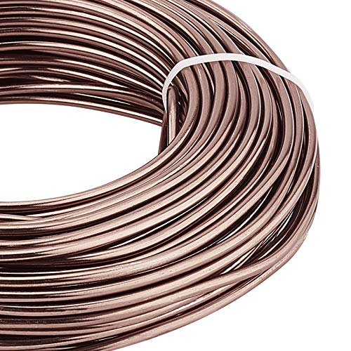 BENECREAT 82 Feet 9 Gauge Jewelry Craft Wire Aluminum Wire Bendable Metal Sculpting Wire for Bonsai Trees, Floral, Arts Crafts Making, Camel
