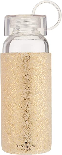 Glitter Glass Water Bottle