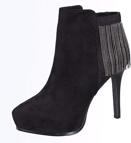 HBDLH Chaussures pour Femmes Peu De Bottes avec des des Franges 12Cm Personnalité Super Talons Hauts Les Plates-Formes Bien des Talons Maman Dingxue.  shopping en ligne