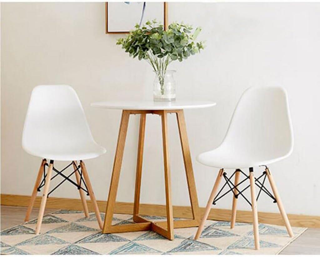 Président WGZ- Chaise à Manger en Plastique Adulte Bureau Tabouret Dossier Chaise ménage Moderne Simple Paresseux en Bois Massif Chaise Simple (Color : B) D