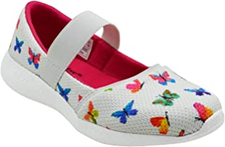 KazarMax Girls Air Cooled Memory Foam Latest Collection,Comfortable Ballet Flat's Multi-Coloured Butterfly Ballerinas/Bellies (Made in India)