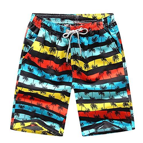 HaiDean Herren Jungen Strand Shorts Badeshorts Kurze Bunte Lässig Modernas Badehose Schnelltrockende Beachshorts Männer Nner In M Kleine (Color : Schwarz, Size : 3XL)