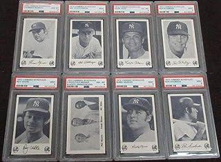 1972 Yankees Schedules Complete Set 8 Cards Thurman Munson 10 C7432 - PSA/DNA Certified - Baseball Slabbed Vintage Cards