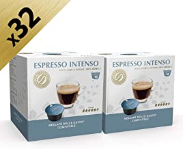 Espresso Intenso Dolce Gusto-Compatible, 32 Capsules by Real Coffee Denmark