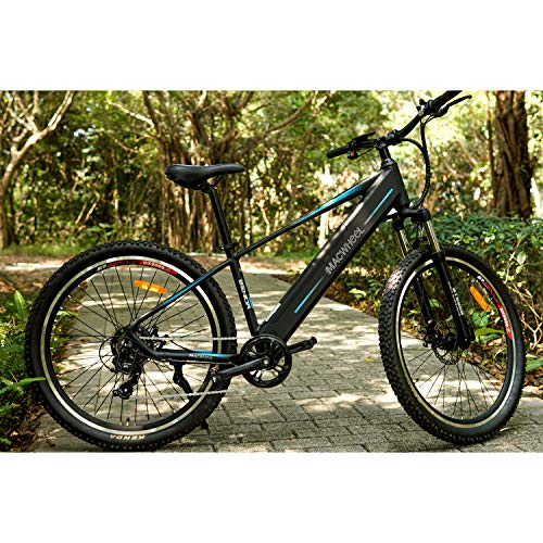 Electric Mountain Bike 27.5', Removable 36V/12.5Ah Battery Integrated with Frame, Shimano 7-Speed, Suspension Fork, Front Suspension, Tektro Dual Disc Brakes for Sport Cycling(Wrangler-600)