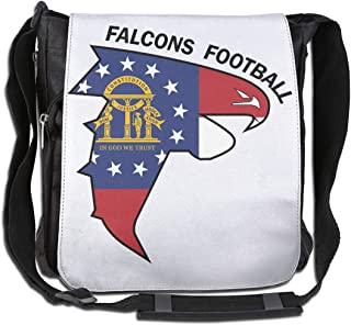 XIVEIER Custom Georgia Flag Football Cool Single Shoulder Pack For Men's
