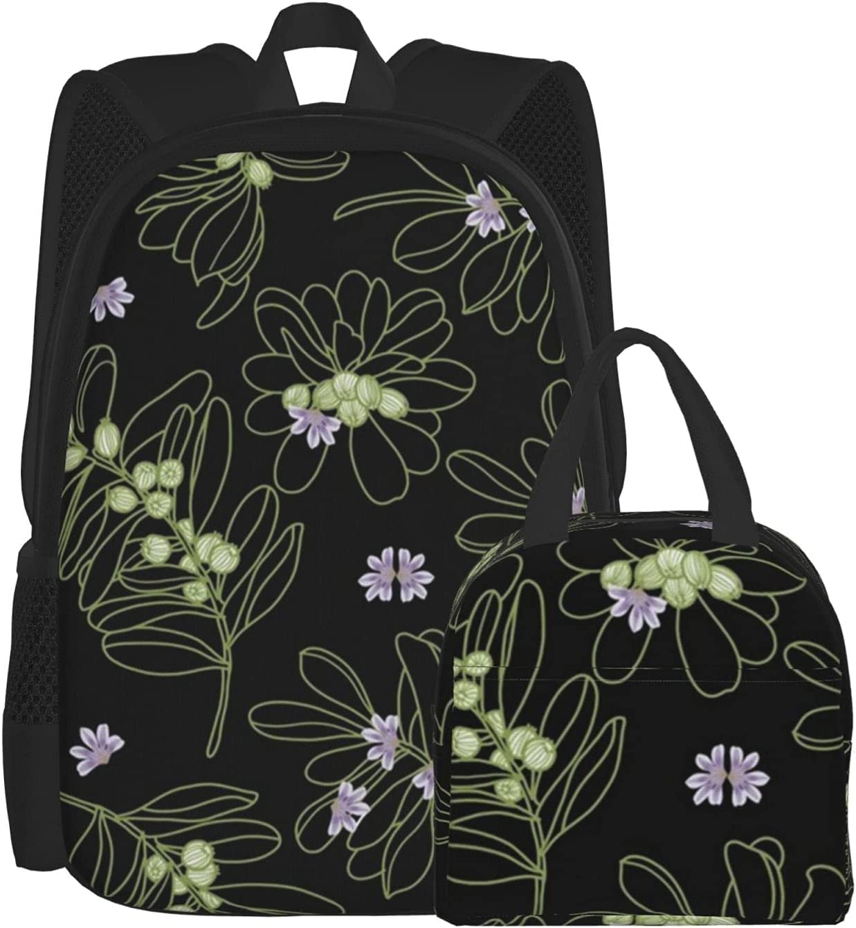 Chicago Mall Lunch Bag And Backpack Combination Naupaka Outline Bo Black Pack Max 56% OFF