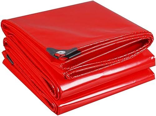 LIYFF- Bache Résistante Rouge Multi-Usage - 100% Imperméable et UV Prougeégé, épaisseur 0.45mm, 500g m2, Options Multi-Taille