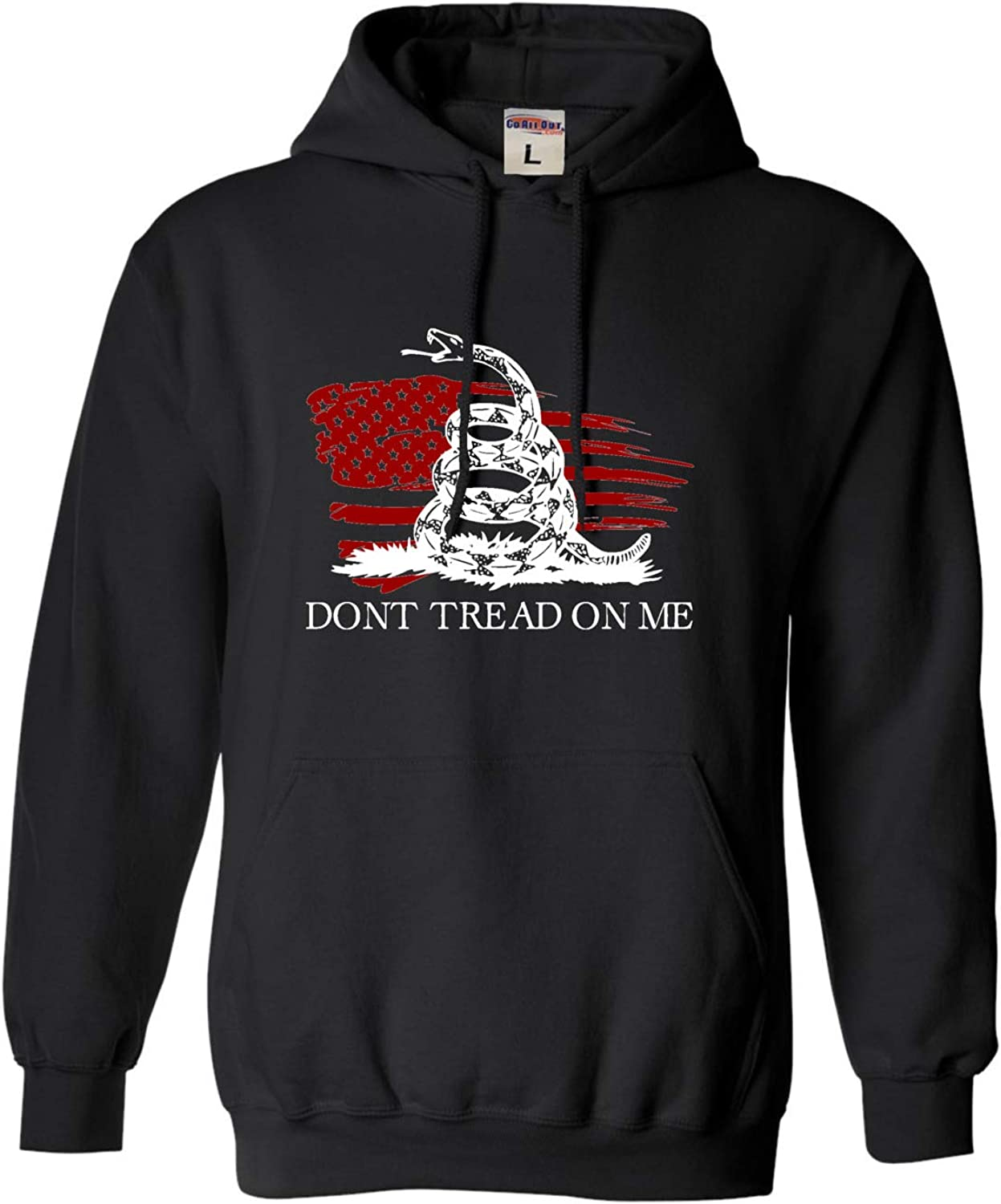 Go All Indefinitely Out Adult Reservation Don't Tread Distressed US Flag Sweatshirt Me On