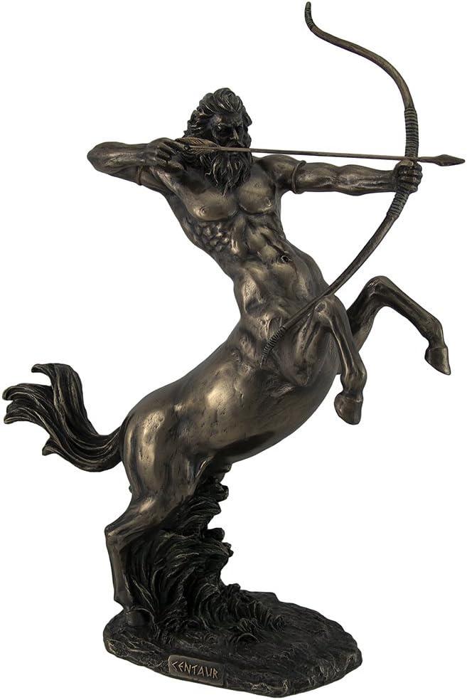 Sale SALE% Milwaukee Mall OFF Resin Statues Rearing Centaur Shooting Bronze Finish Statu Arrow
