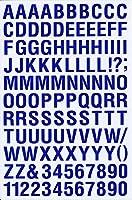 (シャシャン)XIAXIN 防水 PVC製 アルファベット ナンバー ステッカー セット 耐候 耐水 ローマ字 数字 キャラクター 表札 スーツケース ネームプレート ロッカー 屋内外 兼用 TS-121 (ブルー)