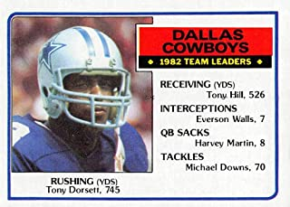 Football NFL 1983 Topps #42 Tony Dorsett #42 TL EX Cowboys