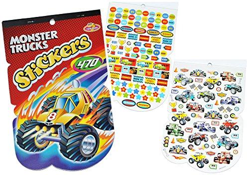 alles-meine.de GmbH 470 TLG. XL - Set Sticker / Aufkleber - Rennwagen - Quad - Monster Trucks - Kinder Kind klein z.B. für Stickeralbum Stickerblock - für Jungen Autos Truck Quad..