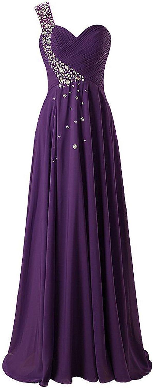 JAEDEN Bridesmaid Dresses Prom Dress Long Chiffon One Shoulder Evening Gown Party Dress