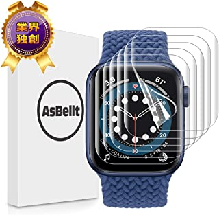 AsBellt Apple Watch 44mm フィルム 用 Apple Watch Series 6/5/4/SE 44mm用 貼り直し可 TPU製 貼付簡単6枚