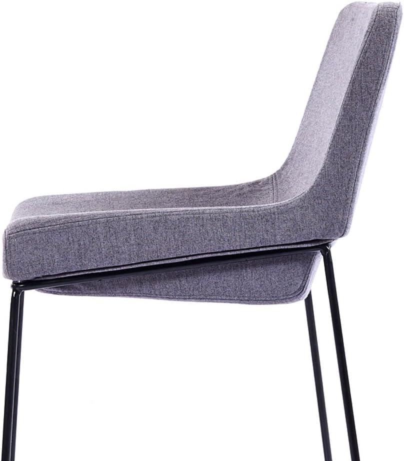 HXF- Chaise de Loisirs Minimaliste Moderne en Fer à Manger Chaise Durable (Color : C) A