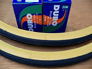 Bicycle (2) 26 x 1 3/8 Gumwall Tires + (2) Inner Tubes Bicycle NEW 26x1-3/8