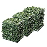 Yescom 24-Pack 10'x10' Artificial Boxwood Hedge Mat with Cable Ties UV Privacy Fence Screen Greenery Panel Outdoor Decor
