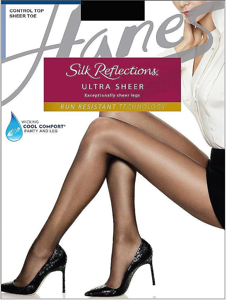 Hanes Silk Reflections Ultra Sheer Control Top Pantyhose Sheer Toe