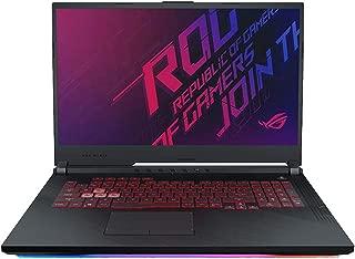 Asus ROG STRIX G G731GU-EV089T-STRIX G Gaming Laptop (Black) - Intel i7-9750H 4.5 GHz, 16 GB RAM, 1000 GB+256GB SSD Hybrid, Nvidia GeForce GTX 1660Ti, 17.1 inches IPS, Windows 10, Eng-Arb-KB