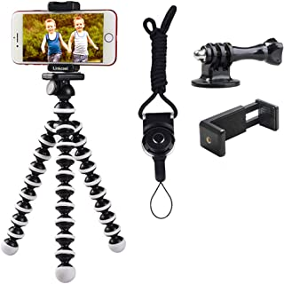 Phone Tripod, Linkcool Octopus Phone Tripod Portable and Adjustable Tripod Stand Holder with Universal Clip and Bluetooth ...