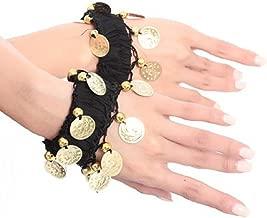 BellyLady Belly Dance Wrist Ankle Cuffs Bracelets, Halloween Costume Accessory