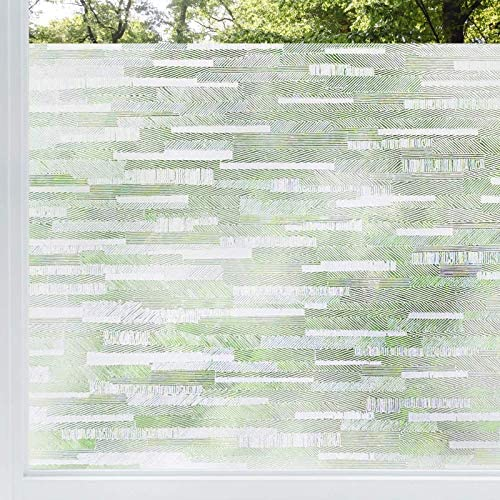rabbitgoo Privacy Window Film Frosted Matte Window Sticker Static Cling Door Film No Glue Glass product image