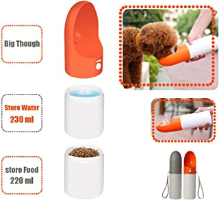 Gladog Portable Water Bottle for Dogs, Outdoor Dog Water Bottle for Walking and Travel, Large Multi-Functional Dog Water Bottle, Carry Water and Food, Leak Proof Pet Water Dispenser, BPA Free
