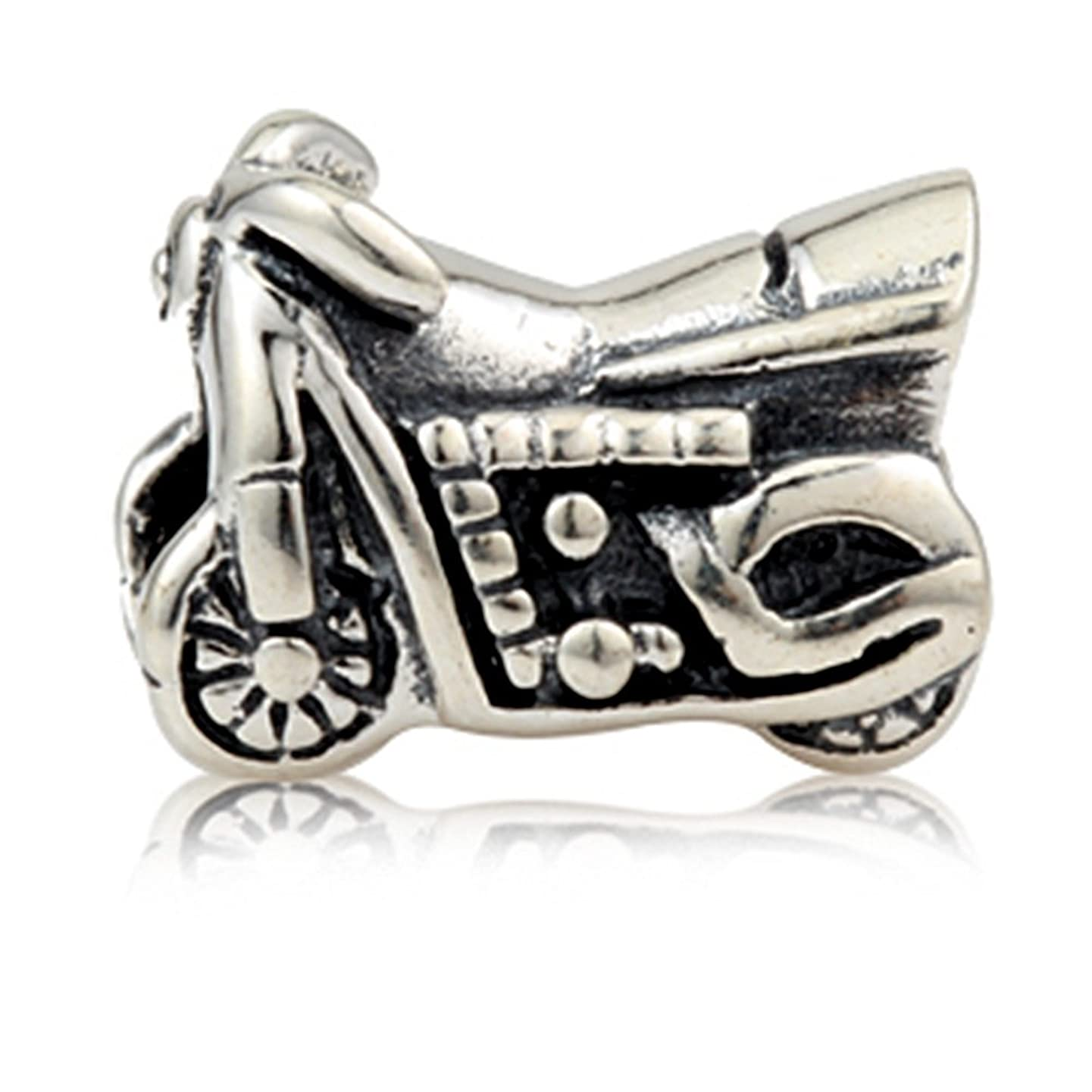 Motorcycle Beads Charm 925 Sterling Silver Autobike Beads fit for DIY Charms Bracelets