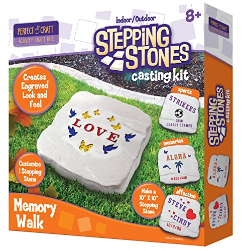 Perfect Craft Customizable Stepping Stone Cast & Paint Kit with Perfect Cast Casting Material