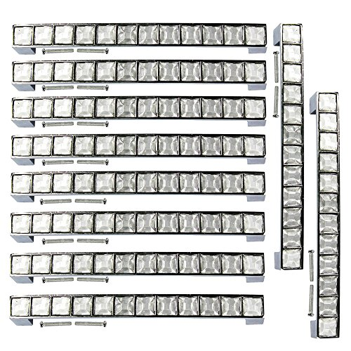 PsmGoods Tirador de puerta con cristales, de aleación de zinc, estilo europeo, ideal para muebles, vestidores, cómodas, armarios y cocinas