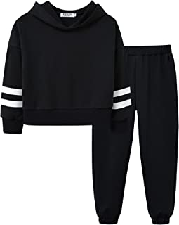 Girl's Hooded Sweatsuits Pullover Tracksuit Long Sleeve...