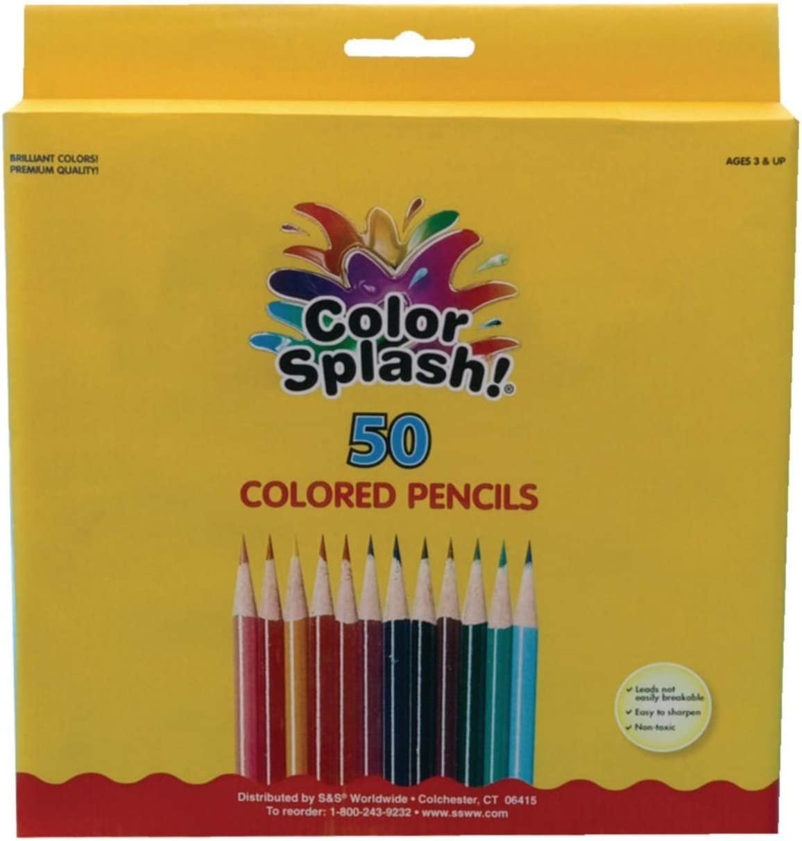 Color Splash Free shipping on posting Sale Special Price reviews Colored Pencils Box 50 of