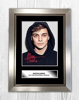 Engravia Digital Martin Garrix (3) Reproduction Autograph Photograph Picture Poster Photo A4 Print(Silver Frame)