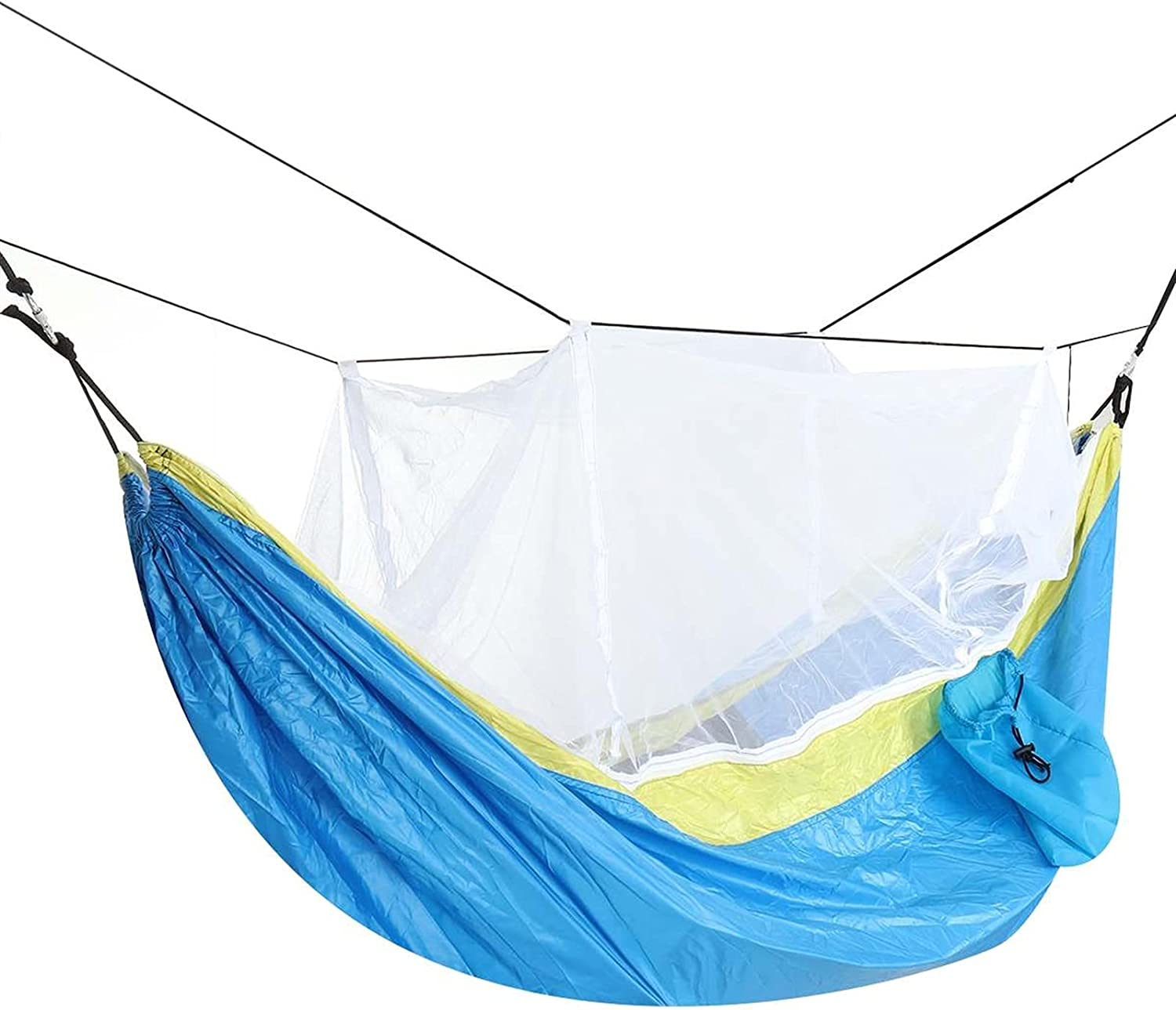 ZQDMBH Double In a popularity Hammock Portable Outdoor Hammocks with quality assurance Net Camping