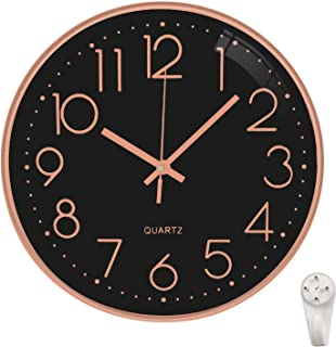 Sponsored Ad - Lesirit Wall Clock 12 Inch Modern Non-Ticking Silent Battery Operated Round Clocks Simple Style Decor for L...