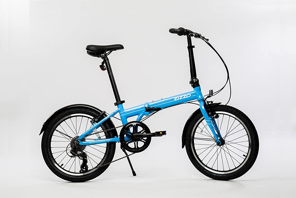 EuroMini ZiZZO Via 27lb Folding Bike-Lightweight Aluminum Frame Genuine Shimano 7-Speed 20