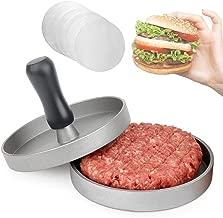 Cherishly Adjustable Single Burger Press Patty Maker Home Hamburger Beef Burger Press Food/Grade/Die-Cast/Aluminum/Alloy /Barbecue/Plate