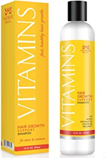 Nourish Beaute Vitamins Shampoo for Hair Loss that Promotes Hair Regrowth, Volume and..