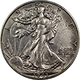 1943 U.S. Walking Liberty Half Dollar Silver Coin, About Uncirculated Condition