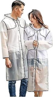 NLR Elegante y de moda del impermeable, ligero con capucha larga ropa impermeable, estilo personal Época de lluvia Ropa, v...