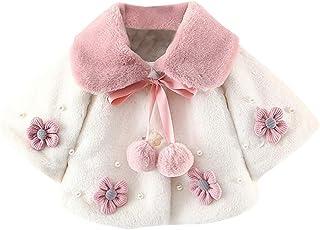 JIN+D Baby Infant Girls Winter Coat Cloak Jacket Thick Warm Fluffy Faux Fur Clothes