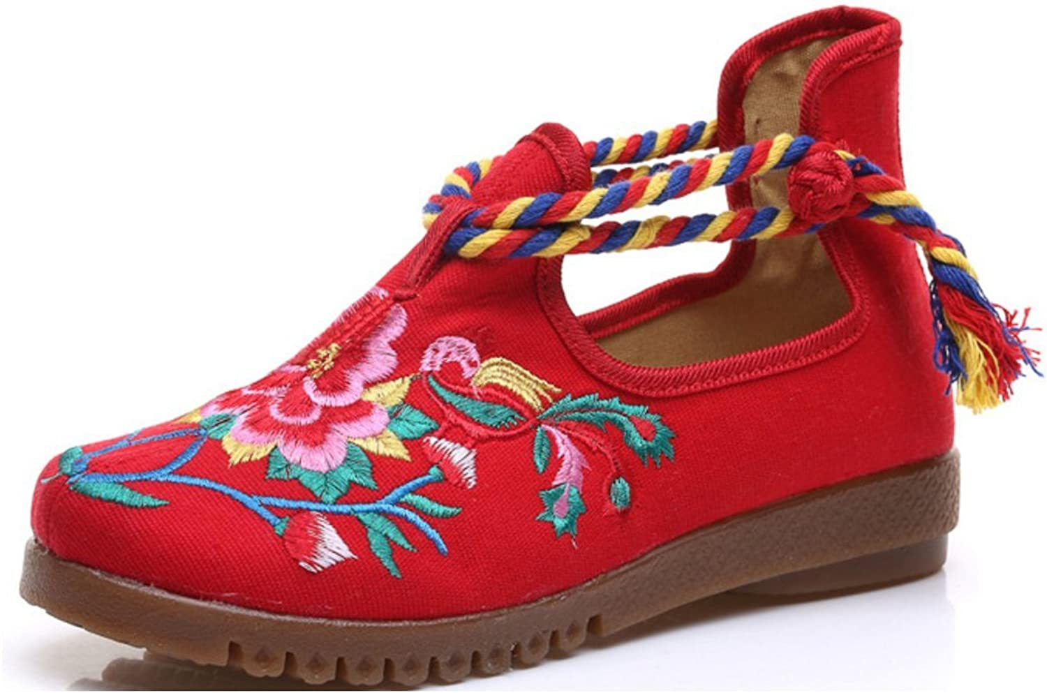 Tianrui Crown Womens Embroidered Slip-on Loafer Flat shoes