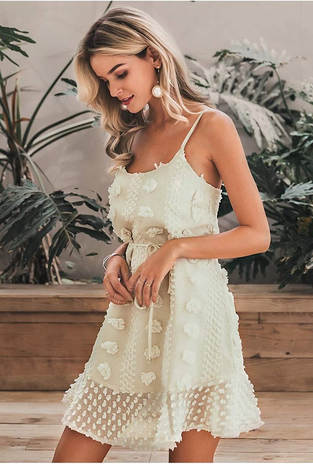 Elegant Flower Embroidery Short Dress Women Sexy Spaghetti Strap Summer Sundress Female lace up Mini Beach Dress 2019