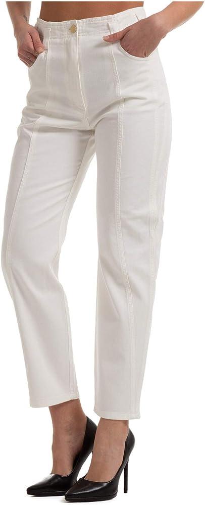 Alberta ferretti, pantalone da donna bianco,in cotone al 100 % A031416790002