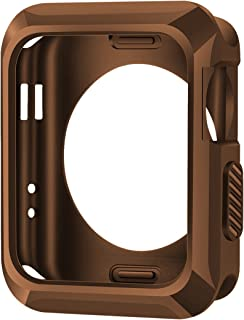 iiteeology Replacement for Apple Watch Case 42mm, Universal TPU Protective Case for Apple iWatch Series 3 Series 2 Series 1 (Matte Brown)