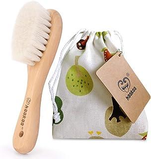 برس موی چوبی کودک Haakaa برس طبیعی نرم نرم بز برای نوزادان تازه متولد شده استفاده از آن برای درمان درپوش گهواره 100٪ PVC ، BPA و فاقد فتالات ، 1 قطعه