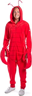 Tipsy Elves` Men`s Lobster Costume - Red Sea Crustacean Halloween Jumpsuit