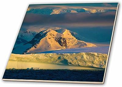 Glacier NP 3dRose Mountain Peaks Reflecting into Lake McDonald USA-Ceramic Tile ct/_207381/_2 Multicolor 6-inch Montana