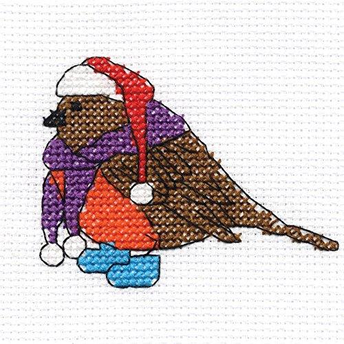 DMC Christmas Character Mini Cross Stitch Kit - Robin